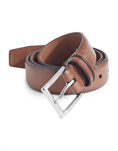 Cole Haan Five-Notch Leather Belt-TAN-42