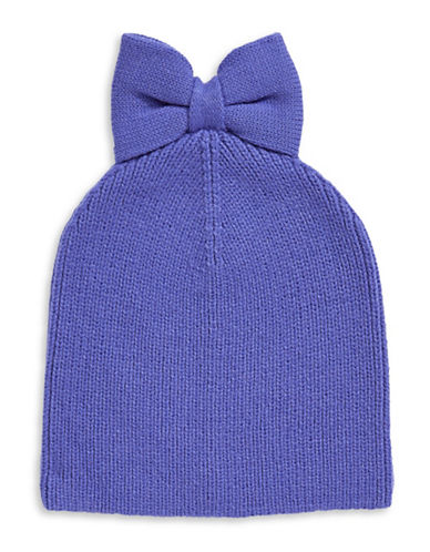 Kate Spade New York Solid Bow Beanie-BLUE-One Size