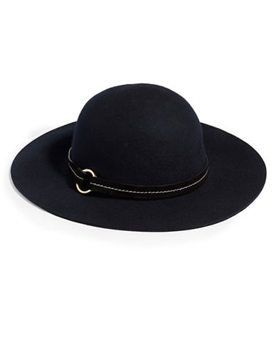 Michael Michael Kors Floppy Wool Hat-NAVY-One Size