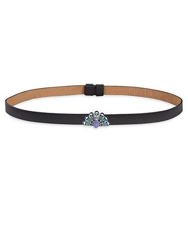 Kate Spade New York Peacock Belt-BLACK-Medium