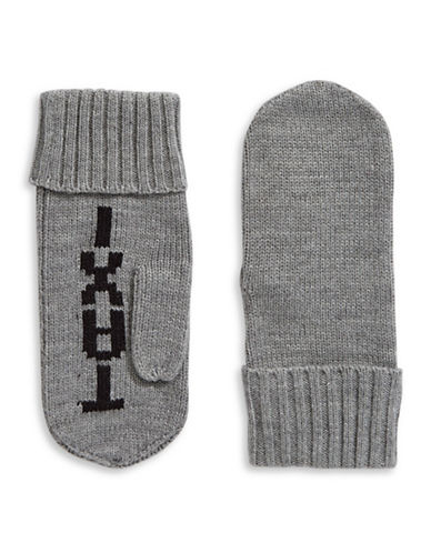 Kate Spade New York Taxi Knit Mittens-HEATHER GREY-One Size