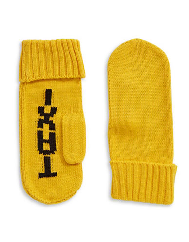 Kate Spade New York Taxi Knit Mittens-DANDELION-One Size