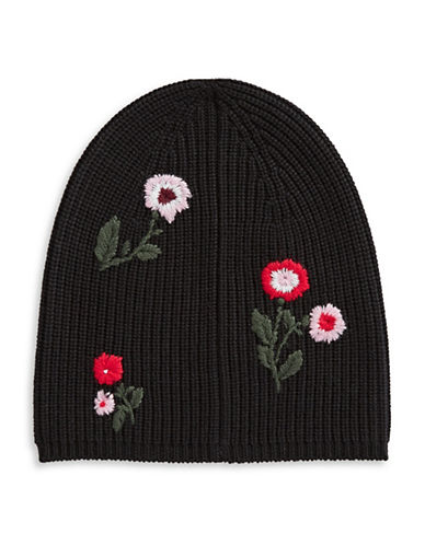 Kate Spade New York In Bloom Wool Tuque-BLACK-One Size