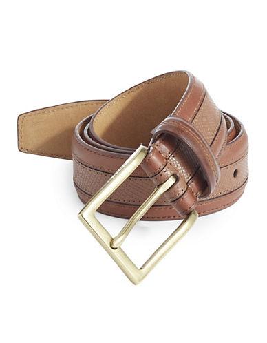 Cole Haan Five-Notch Leather Belt-BEIGE-38