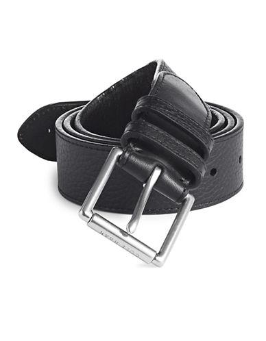 Cole Haan Five-Notch Leather Belt-BLACK-40