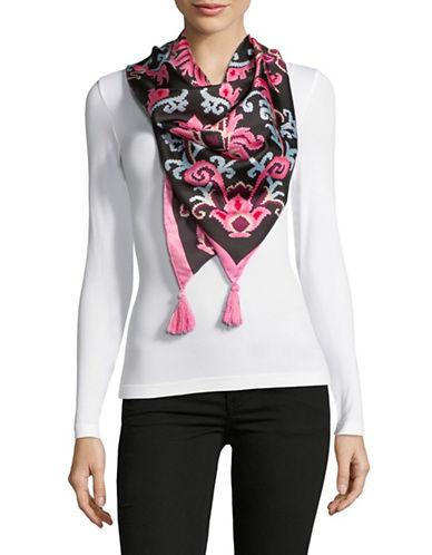 Kate Spade New York Tapestry Silk Scarf-BLACK-One Size