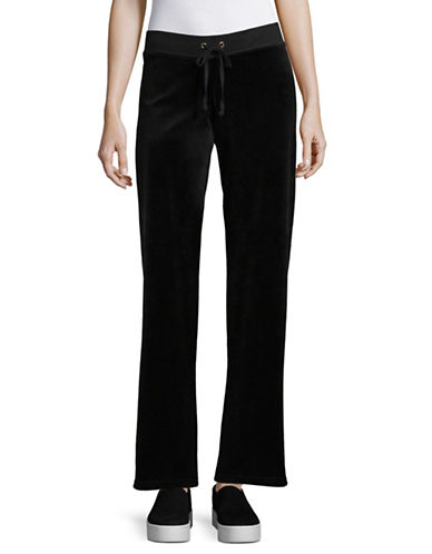 Juicy Couture Trk Velour Mar Vista Pants-BLACK-Large