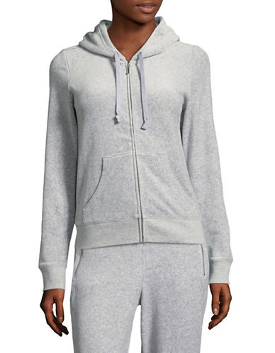 Juicy Couture Trk Velour Robertson Jacket-GREY-Small 89304842_GREY_Small