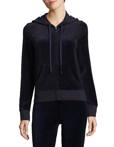 Juicy Couture Trk Velour Robertson Jacket-BLUE-Large
