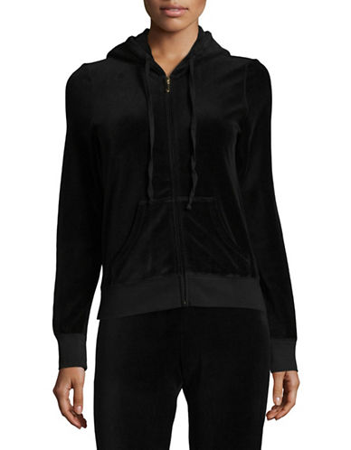 Juicy Couture Trk Velour Robertson Jacket-BLACK-X-Small