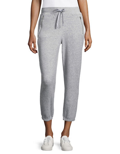 Juicy Couture Silverlake Slim-Fit Cropped Track Pants-GREY-Large 89304774_GREY_Large