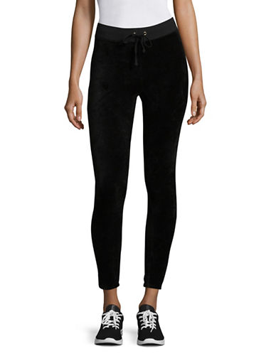 Juicy Couture Velour Rodeo Drive Leggings-BLACK-X-Small