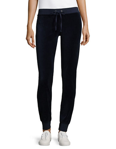 Juicy Couture Zuma Velour Track Pants-BLUE-Medium