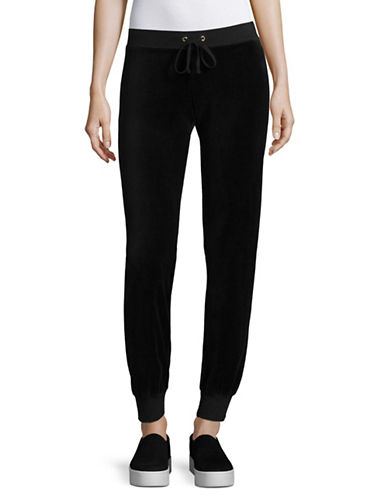 Juicy Couture Zuma Velour Track Pants-BLACK-Large