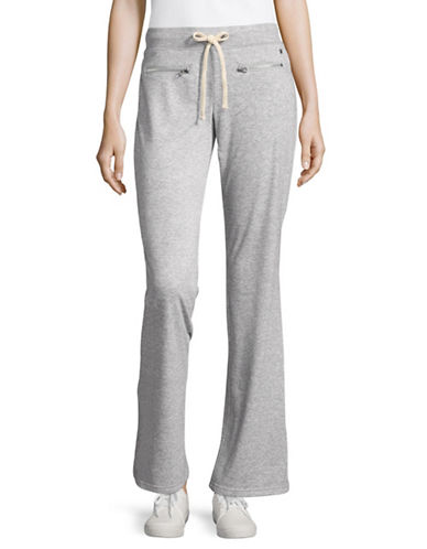 Juicy By Juicy Couture Micro Terry Zip-Pocket Joggers-HEATHER GREY-Small