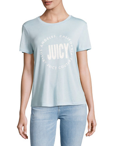 Juicy By Juicy Couture Logo T-Shirt-MARINA SKY-Small
