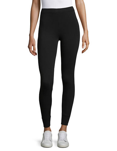 Juicy By Juicy Couture Trk Terry Leggings-PITCH BLACK-X-Small