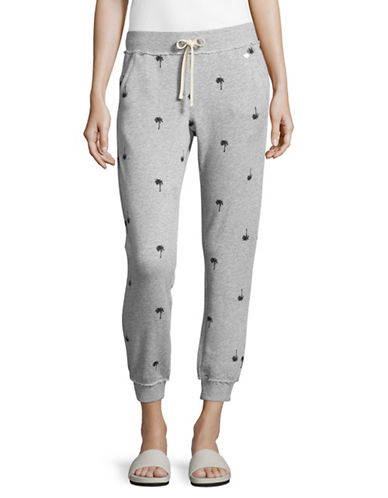 Juicy By Juicy Couture Palm Tree Sweatpants-GREY-Large