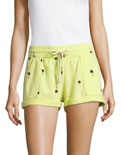 Juicy By Juicy Couture Pam Tree Terry Roll Shorts-PINA COLADA-Small
