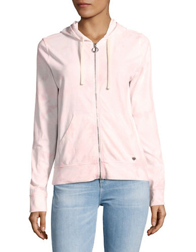 Juicy By Juicy Couture Tie Dye Track Jacket-BABY PINK-X-Small