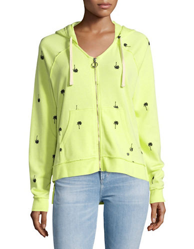 Juicy By Juicy Couture Printed Terry Zip Hoodie-PINA COLADA-Small