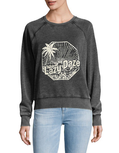 Juicy By Juicy Couture Graphic Sweatshirt-PITCH BLACK-Large