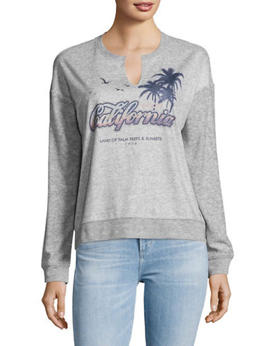 Juicy By Juicy Couture Graphic Sweatshirt-SILVER-X-Small