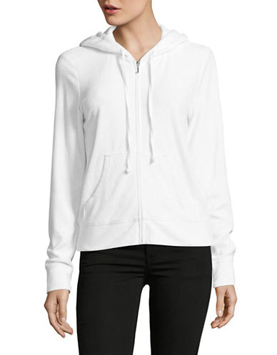 Juicy Couture Micro-terry Zip Jacket-WHITE-Small 89304533_WHITE_Small