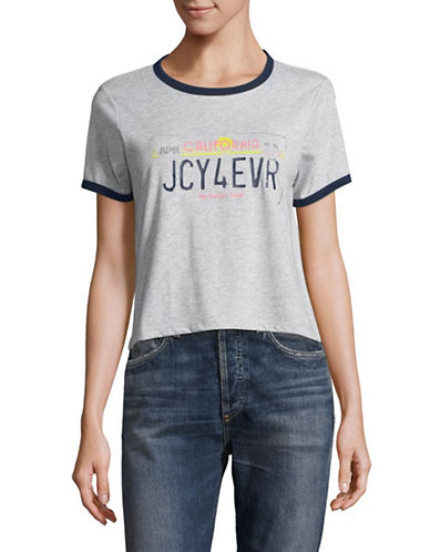 Juicy By Juicy Couture License Plate Tee-HEATHER GREY-Large