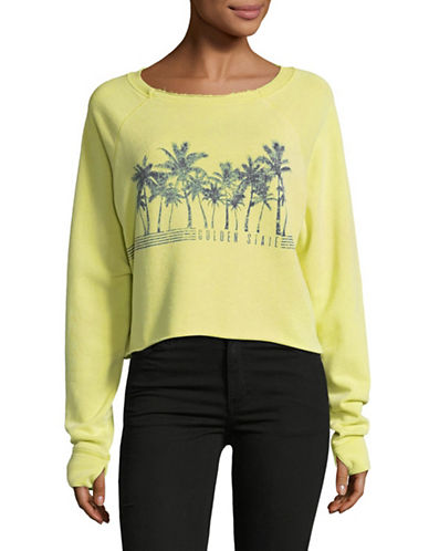 Juicy By Juicy Couture Golden State Pullover Sweater-YELLOW-Small