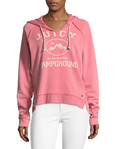 Juicy By Juicy Couture Campground Sweatshirt-PINK-Large