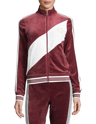 Juicy Couture Sporty Heritage Track Jacket-RED-X-Small