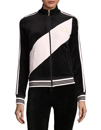 Juicy Couture Sporty Heritage Track Jacket-BLACK-Large