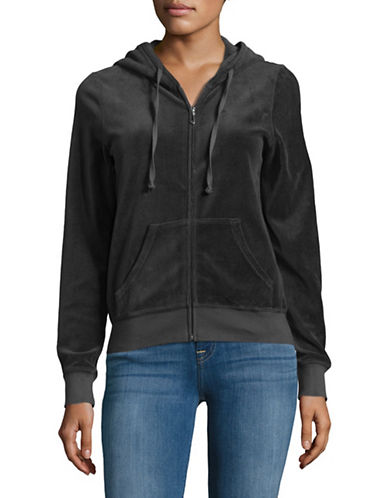 Juicy Couture Trk Velour Robertson Jacket-GREY-Large