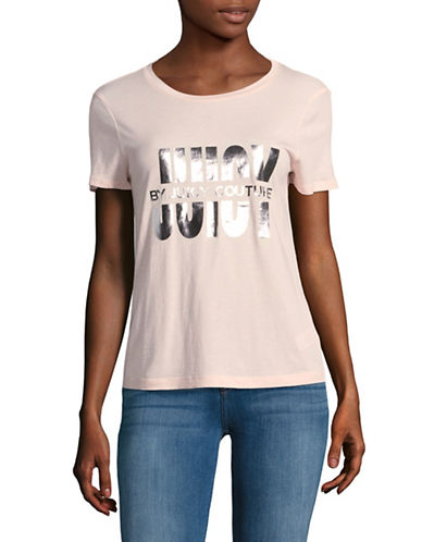 Juicy Couture Logo Foil T-Shirt-PINK-Small