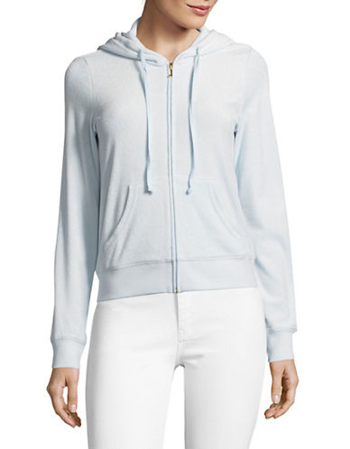 Juicy Couture Micro-terry Zip Jacket-BLUE-X-Small 89304542_BLUE_X-Small