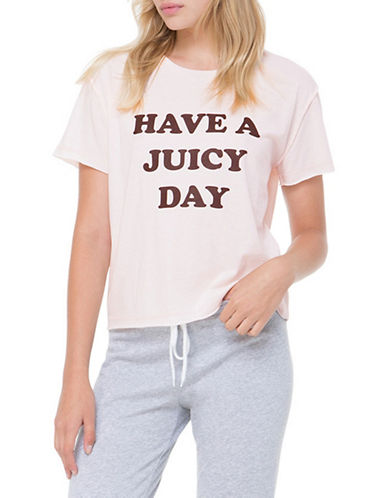 Juicy By Juicy Couture Have A Juicy Day Tee-PINK-Large