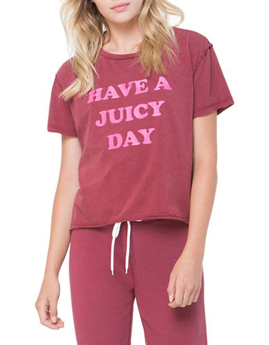 Juicy By Juicy Couture Have A Juicy Day Tee-RED-X-Small