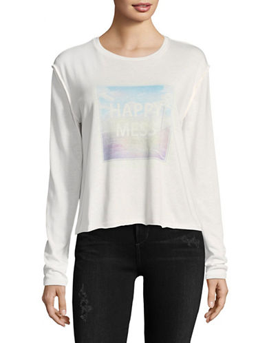Juicy By Juicy Couture Happy Mess Bleached Tee-WHITE-Large