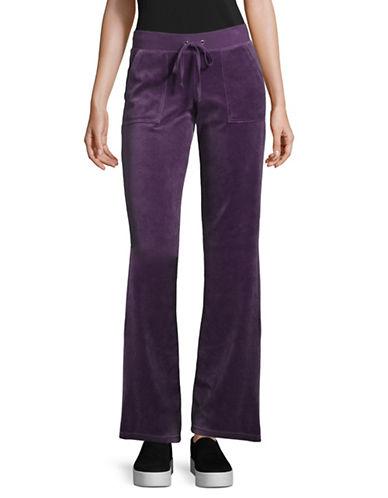 Juicy Couture Velour Del Rey Track Pants-PURPLE-Medium