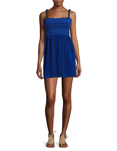Juicy Couture Terry Ties Smocked Sundress-BLUE BLAZE-Medium