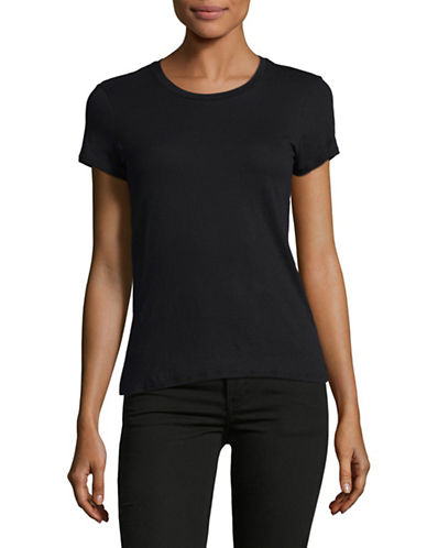 Juicy By Juicy Couture Rhinestone Logo T-Shirt-BLACK-Large