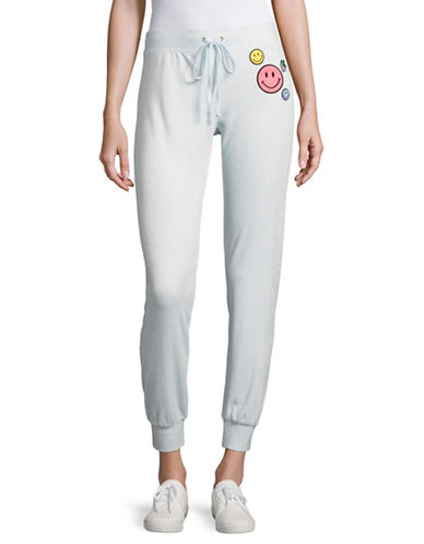 Juicy Couture Call Me Patch Terry Zuma Pants-BLUE-Medium