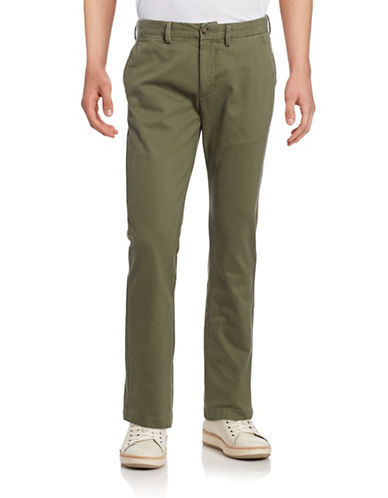 Black Brown 1826 Cotton Pants-DUSTY OLIVE-32X32