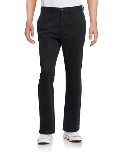 Black Brown 1826 Classic Fit Twill Chino Pants-BLACK-36X32