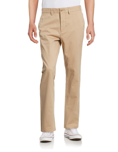 Black Brown 1826 Classic Fit Twill Chino Pants-LIGHT TAN-36X32