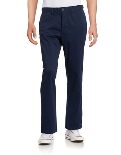 Black Brown 1826 Classic Fit Twill Chino Pants-NAVY-38X32