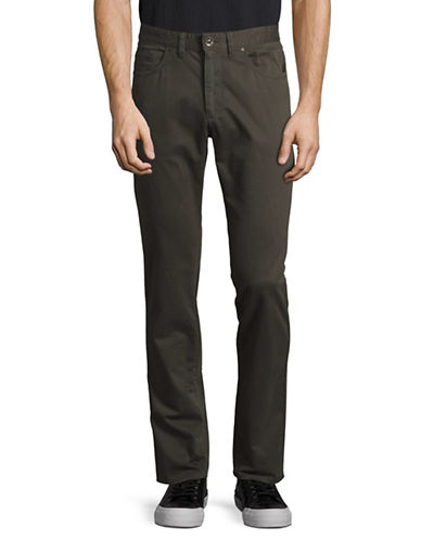 Black Brown 1826 Tailored Fit Twill Pants-GREEN-48X32