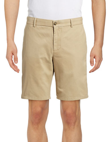 Black Brown 1826 Cotton Twill Shorts-SILVER-34