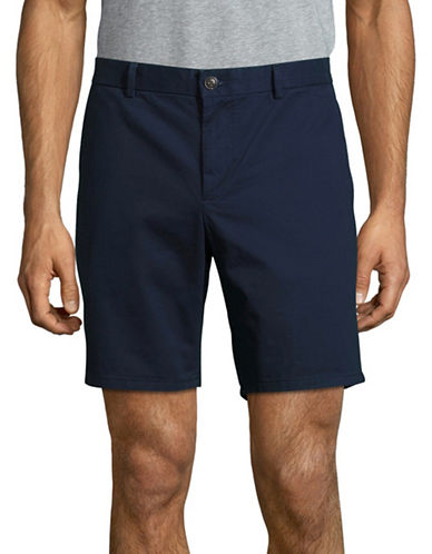 Black Brown 1826 Cotton Twill Shorts-NAVY-34